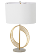 Brass Semicircle Table Lamp