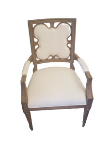 Wood arm chair with clover back