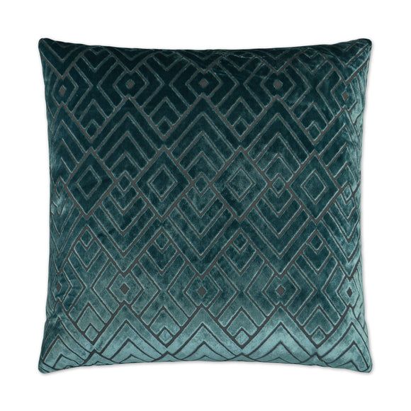 Teal Diamond Pillow 14x24