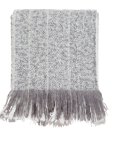 Medium Gray, White, Charcoal Throw