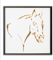 Golden Horse Wall Art