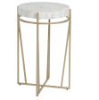 Champagne and White Side Table