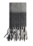 Woven Knife Edge Fringe Light Gray, Charcoal Throw