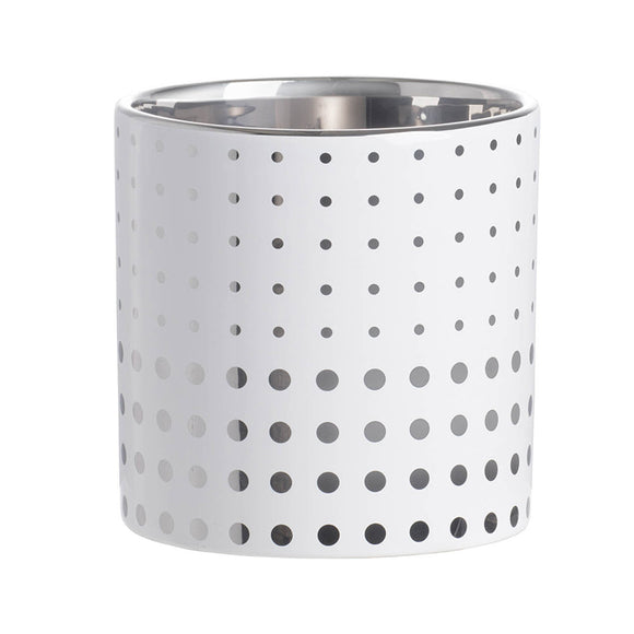 Dot pattern ceramic planter