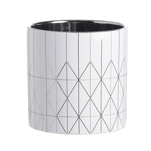 Diamond Pattern Ceramic Planter