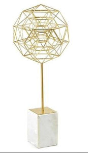 Geometric Sculpture on Stand