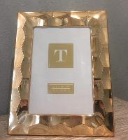 Gold Faceted Photo Frame