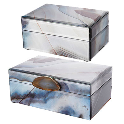 Natural Marbled Jewelry Boxes