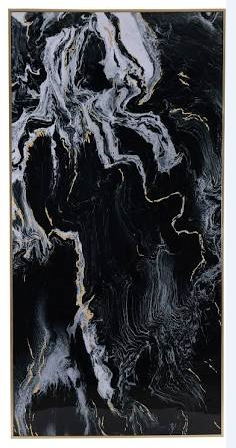 Black Marbled Printed Artwork