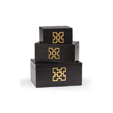 Black Box with Gold  Decorative Design