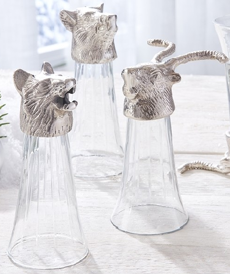 Set of 3 Animal Head Shooter Glasses