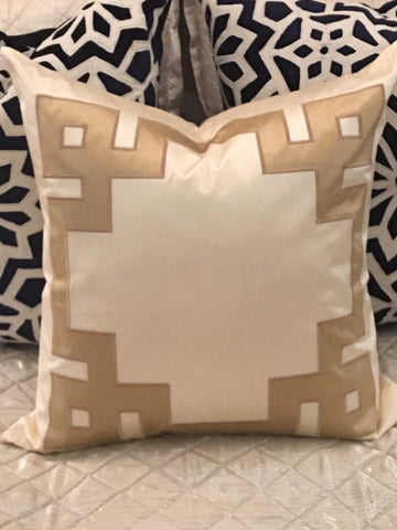 Charmeause Pillow in Ivory Sand