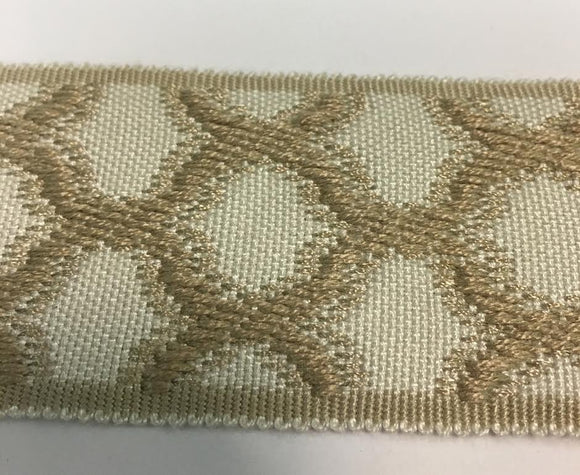 Natural  Trim Tape Circle Pattern