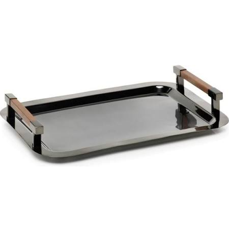 Metal and Wood Serving Tray