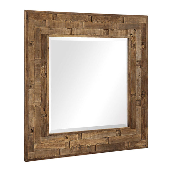 Reclaimed Elm Wood Mirror