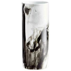 Black & White Marbled Vase
