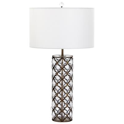 Glass Bubble Quatrefoil Lamp