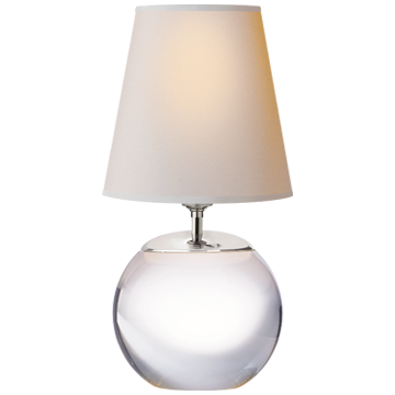 Small Round Crystal Lamp