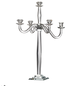 Gorgeous clear glass candelabra