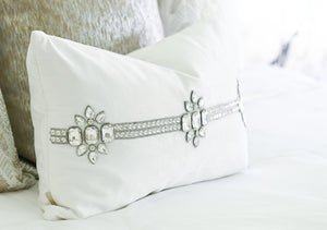 Watertree Stone and White Accent Pillow
