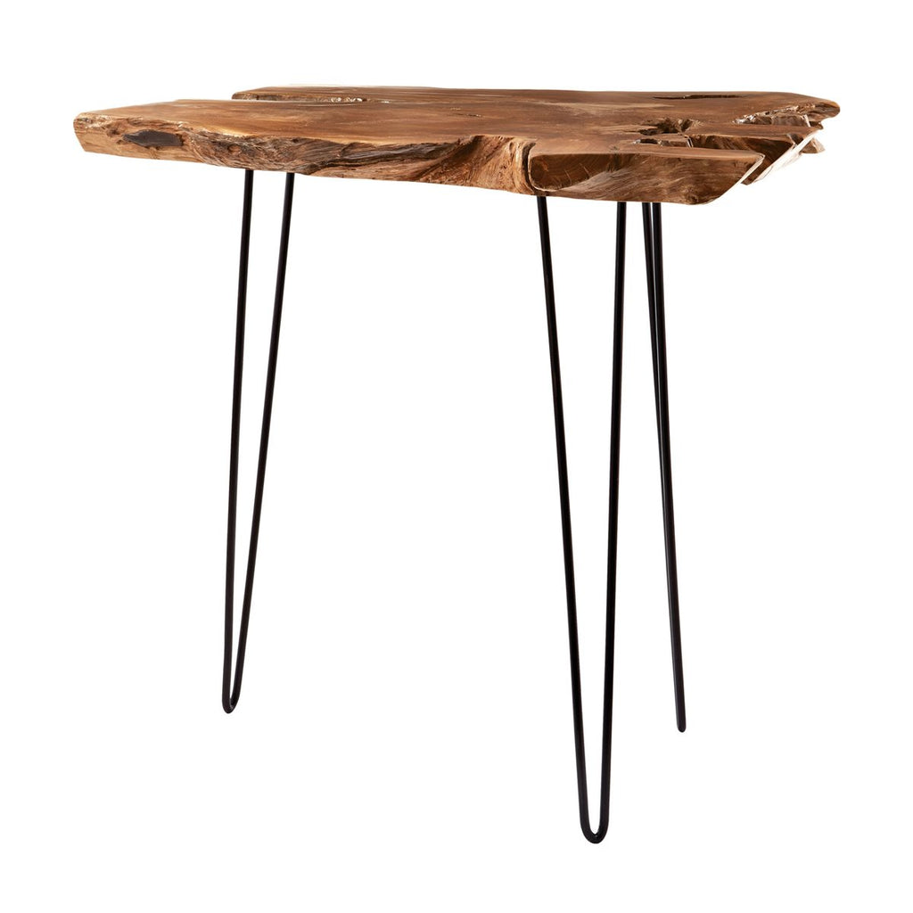 Natural Teak Slab Table