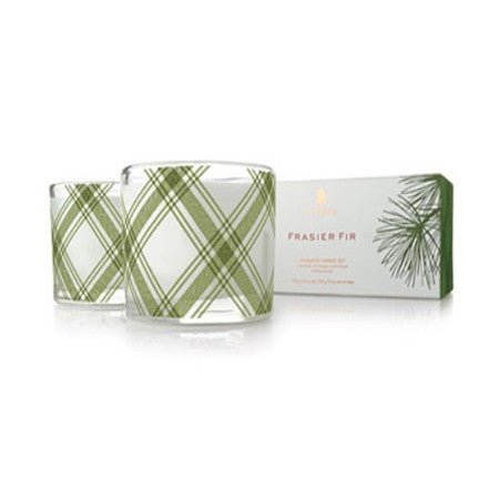Thymes Frasier Fir Poured Candle Set - 2 Per Set 3.75oz ea