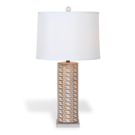 Cameron White Greek Key Lamp