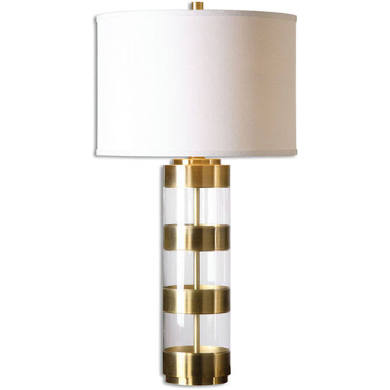 Brushed Brass & Glass Lamp