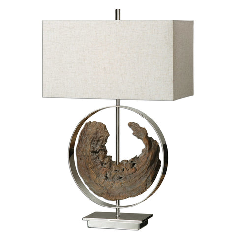 Faux Driftwood Lamp