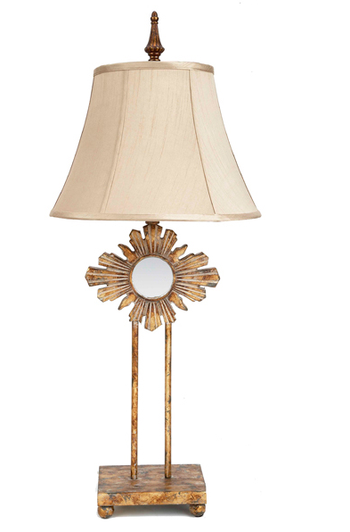 Gold Starburst Mirror Lamp