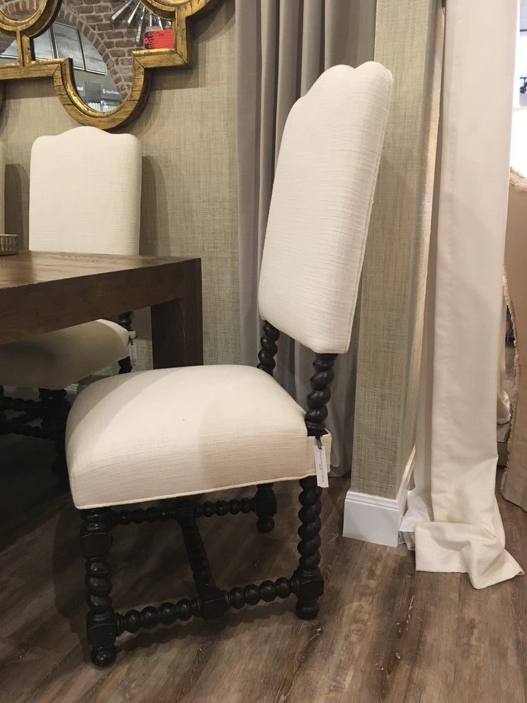 Twisted Accent Legs Dining Chairs