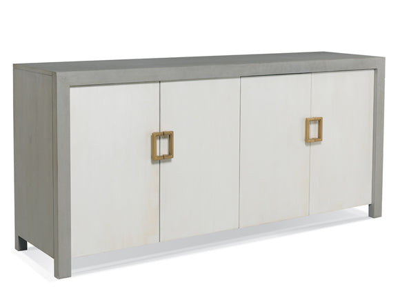 Transitional four door cabinet with euro hinges