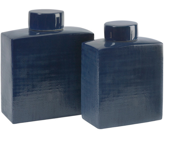 Moody blue canisters (set of 2)