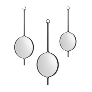 Iron Drop Mirrors, Set of 3