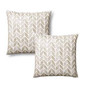 Watertree Silver Leaves Accent Pillows Pair (Set of 2)