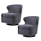 Watertree Gray Swivel Chair (Set of 2)
