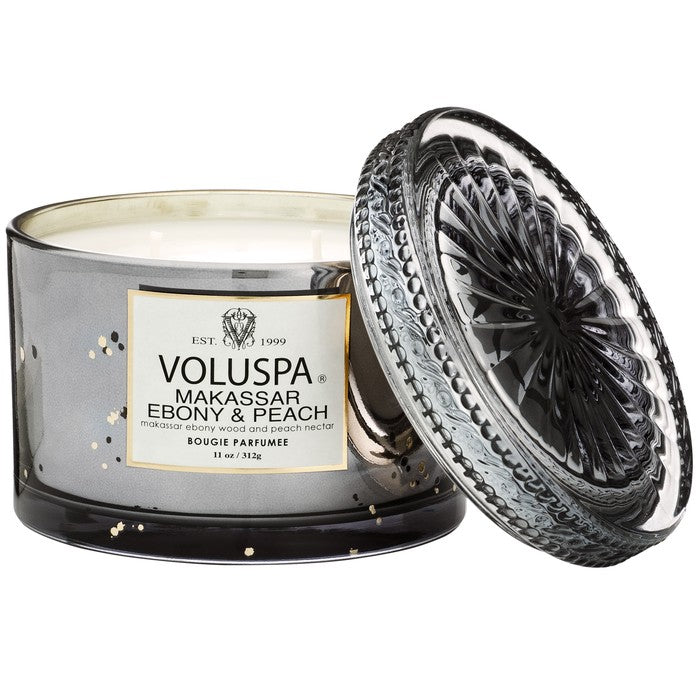 Voluspa Makassar Ebony & Peach Candle