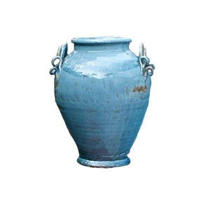 Soft Blue  Large Urn w/Decorative Handles