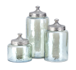 Round Iridescent Luster Canisters S/3