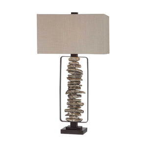 Faux branch table lamp