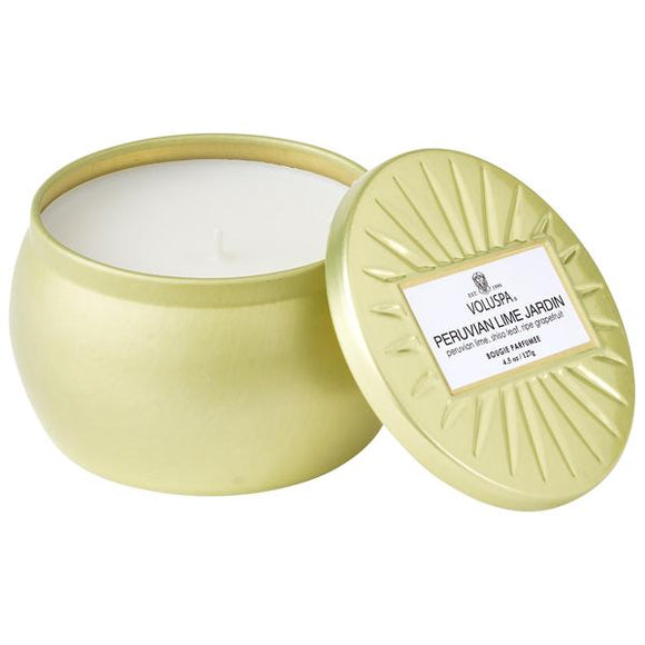 Peruvian Lime Jardin Mini Decorative Tin 4.5oz