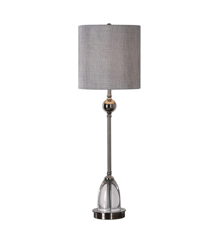 Polished nickel  buffet lamp