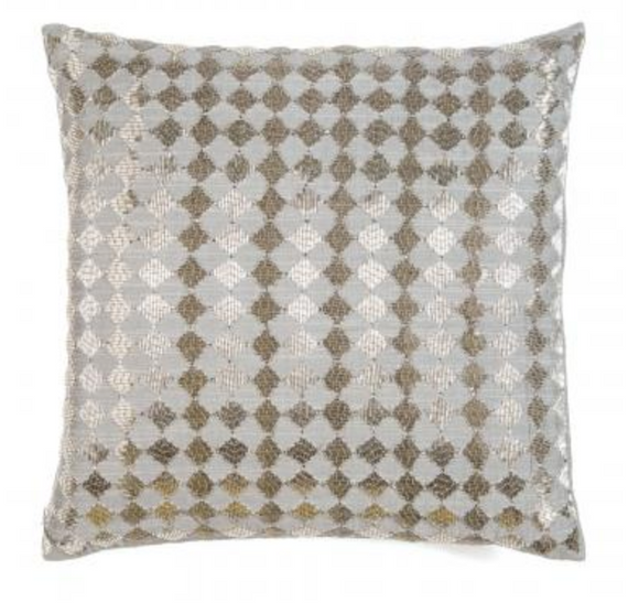 Silver & Grey Diamonds Pillow