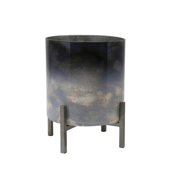 Dark Ombre Glass Planter