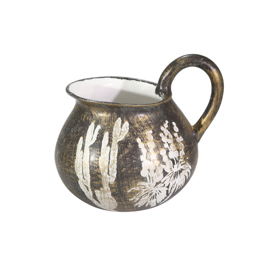 Unique Pitcher with Floral Accent