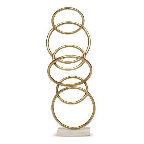 Golden Rings Sculpture