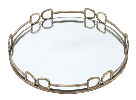 Round Mirrored Tray