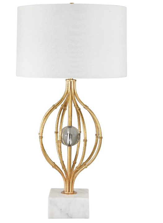 Caged Table Lamp w/crystal orb