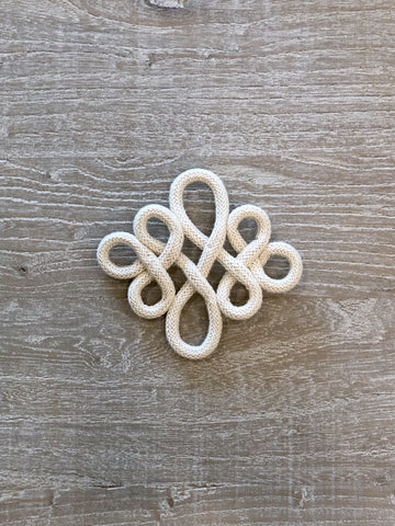 Ivory Knotted Embellishment