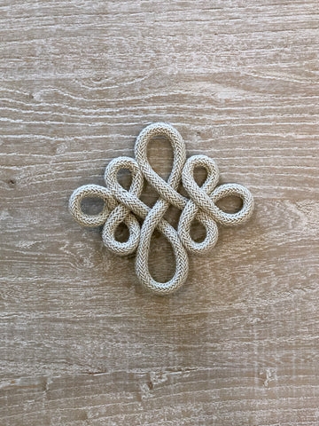 Taupe Knotted Embellishment